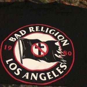 Bad Religion Crossbuster flag t shirt